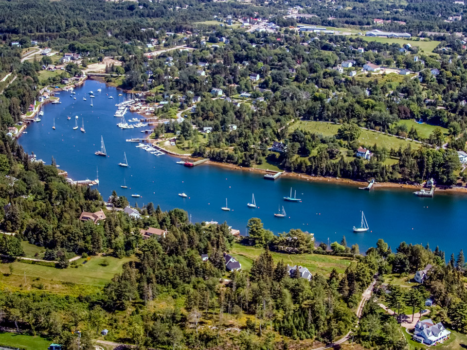 Aerial Back Bay Chester, NS
