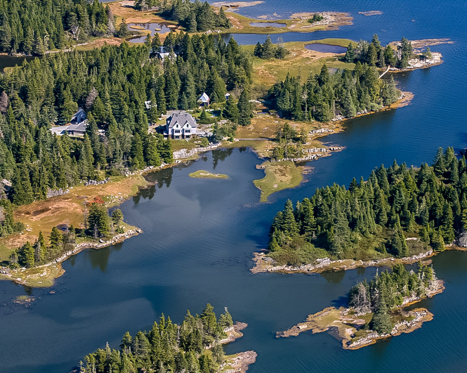 Aerial of House in Dublin Shores, NS