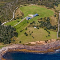 Aerial of Kingsburg House, NS