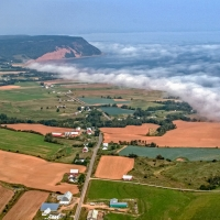 Aerial of Blomidon