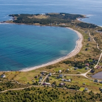Aerial of Kingsburg, NS