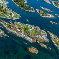 Aerial of Stonehurst Islands, NB