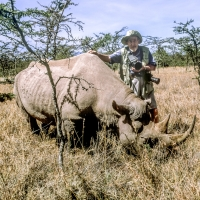George Hunter with White Rhino