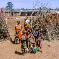 Masai Chief with family