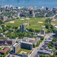 Aerial of Halifax Commons