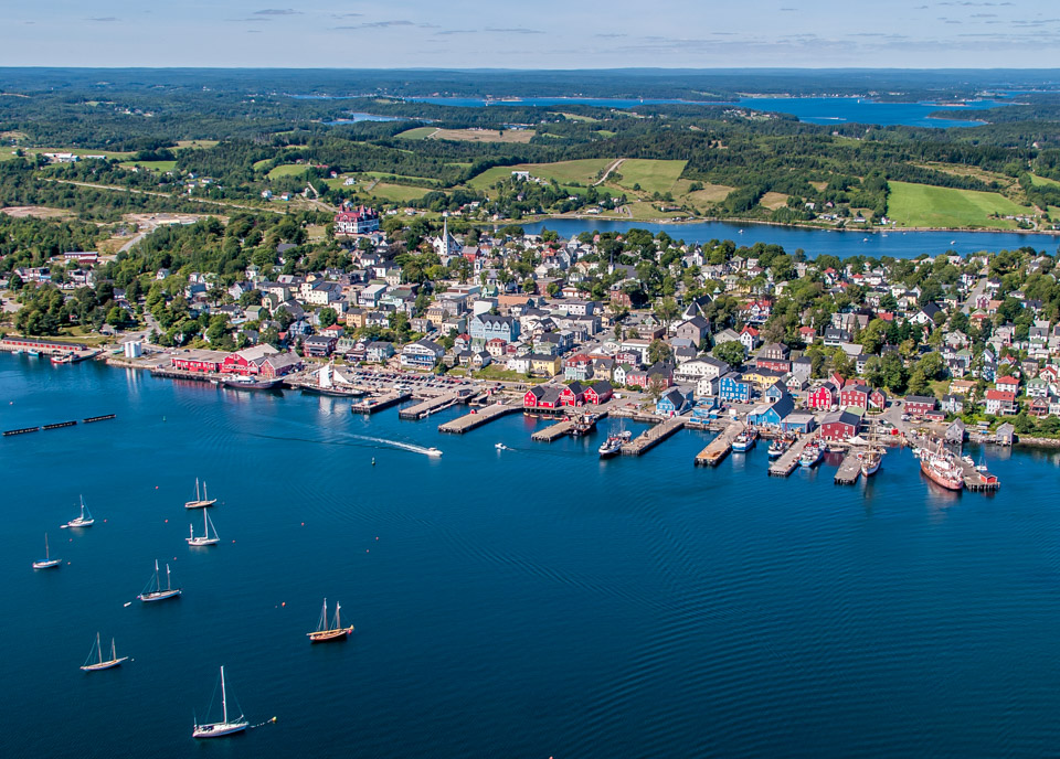 Aerial of Lunenburg Harbour
