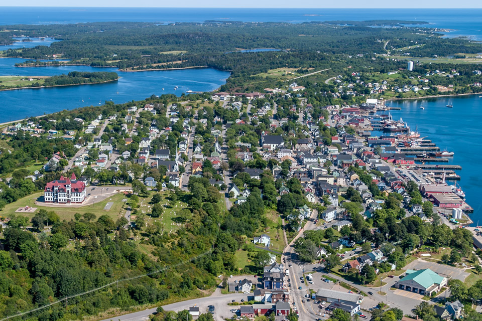 Aerial of Lunenburg NS