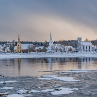 Mahone Bay Churches in Winter