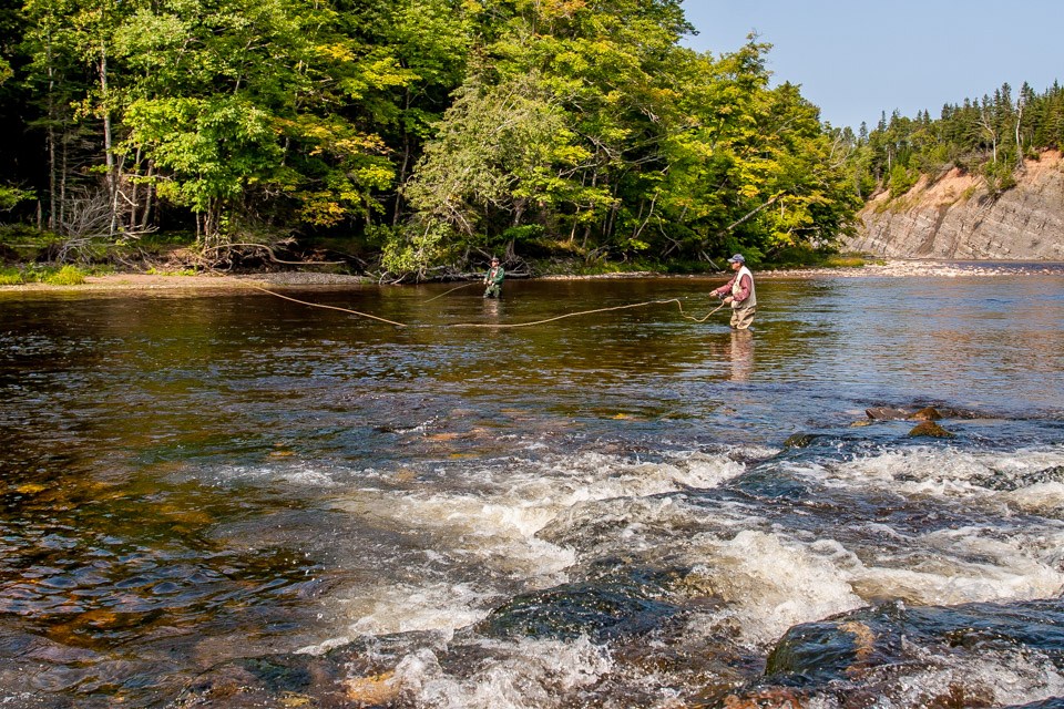 Salmon Fishing on Margaree River