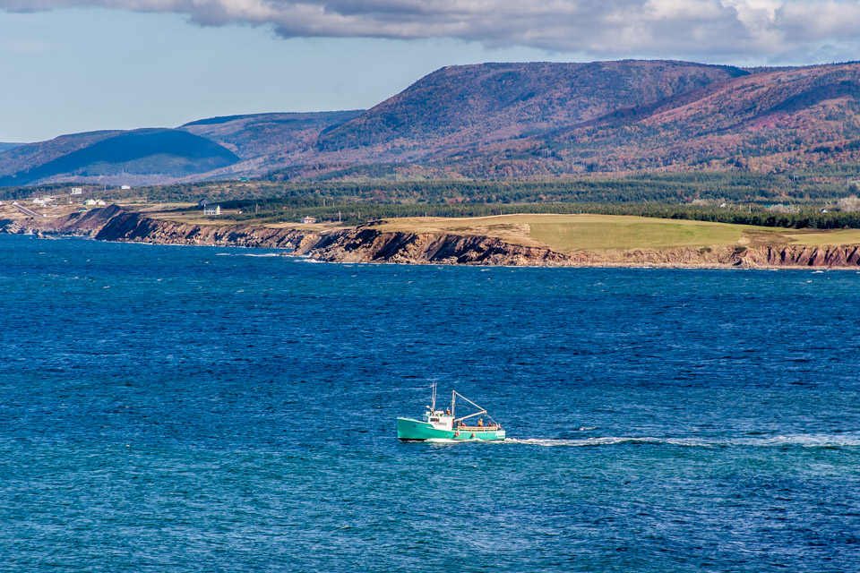 Fishing Boat Leaving Margaree Harbour