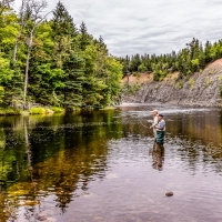 Fly Fishing on Margaree River
