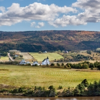 Overlooking Margaree River, NS