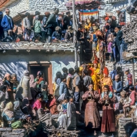 Religious Ceremony Mustang District Nepal
